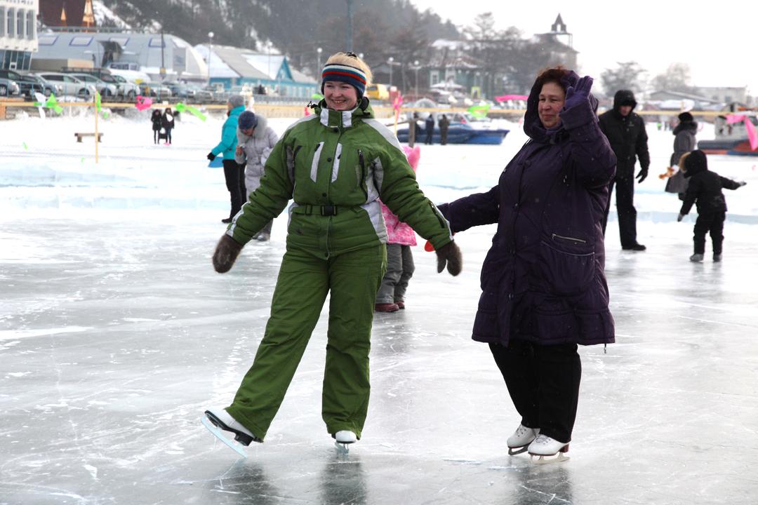 Фестиваль ледовых скульптур на Байкале