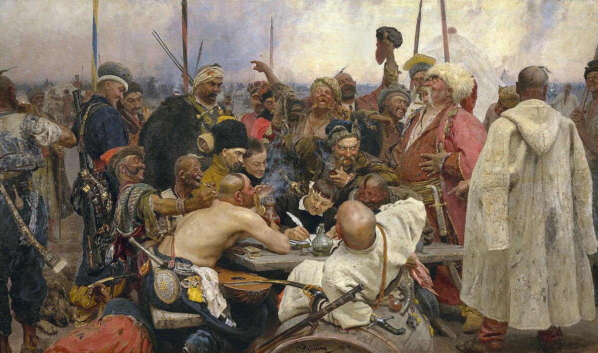 1200px-Ilja_Jefimowitsch_Repin_-_Reply_of_the_Zaporozhian_Cossacks_-_Yorck