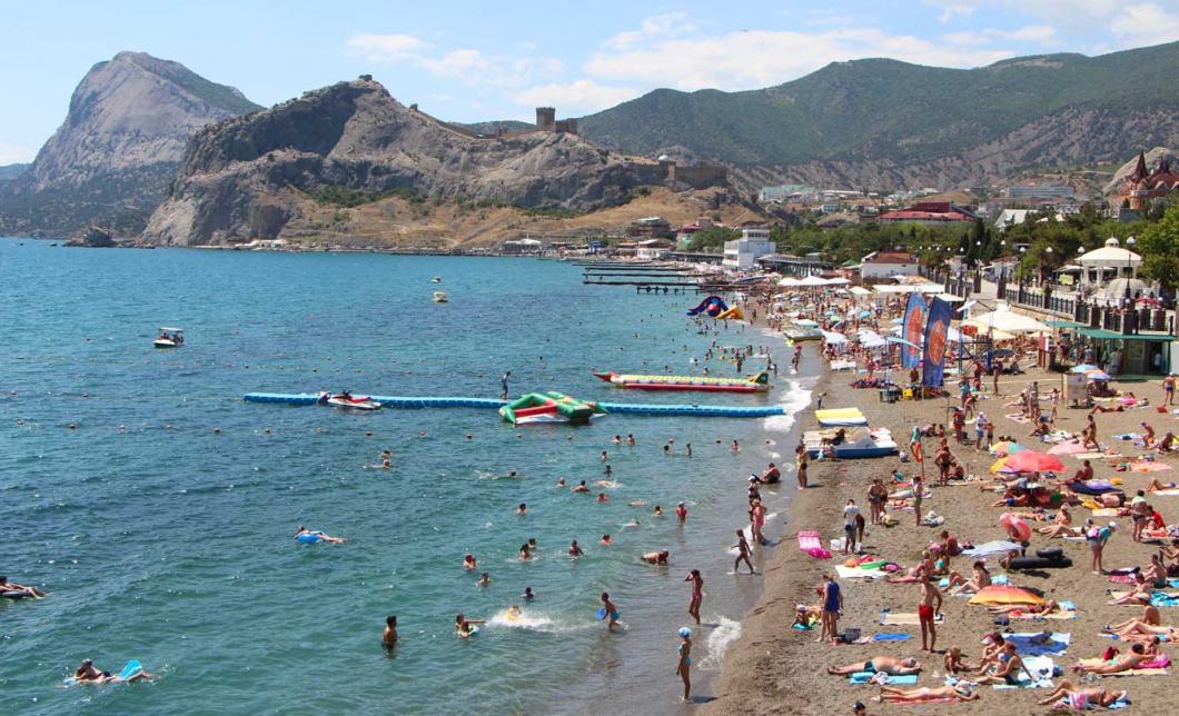 Крым судак фото пляжей и набережной