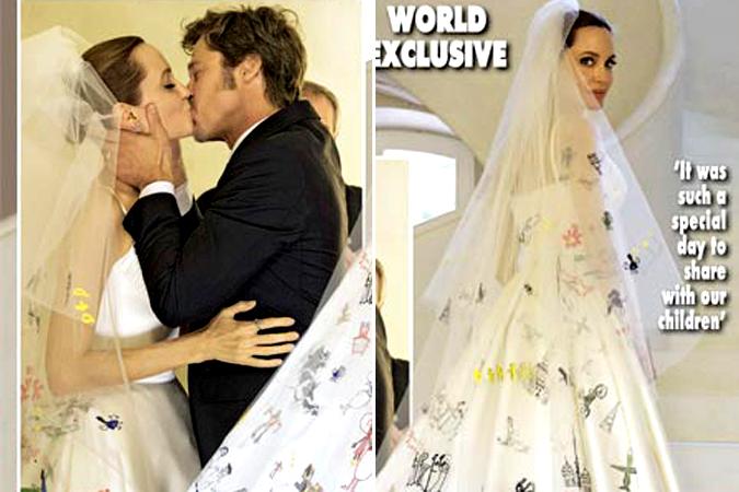 Свадьба джоли платье