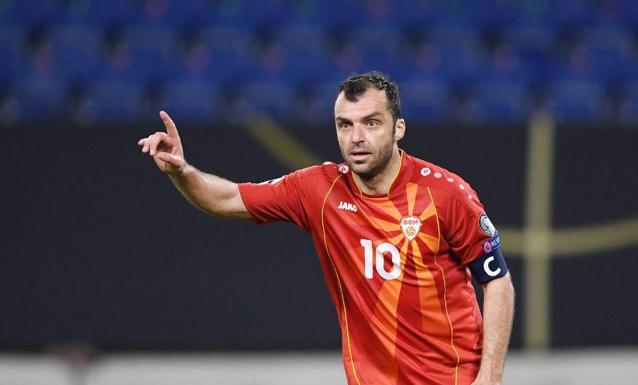 Лучший бомбардир в истории сборной Северной Македонии Горан Пандев. Фото: Global Look Press