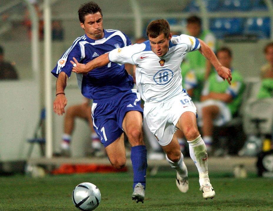 Нападающий Дмитрий Кириченко забил за сборную России 4 мяча, но самый известный - в ворота греков на ЧЕ-2004. Фото: Global Look Press
