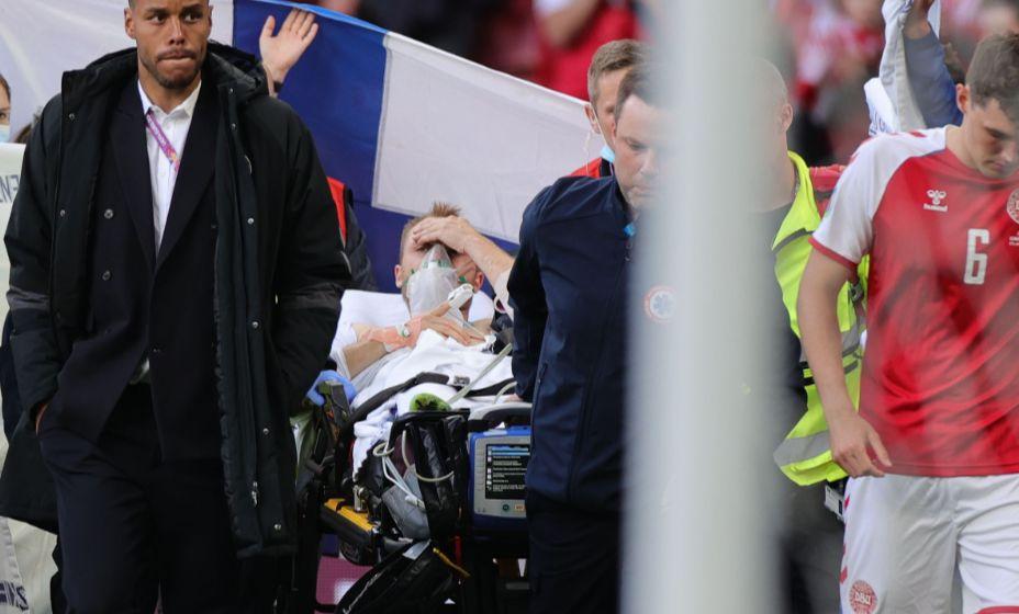 Сердце Кристиана Эриксена остановилось прямо во время матча Дания - Финляндия. Фото: Reuters