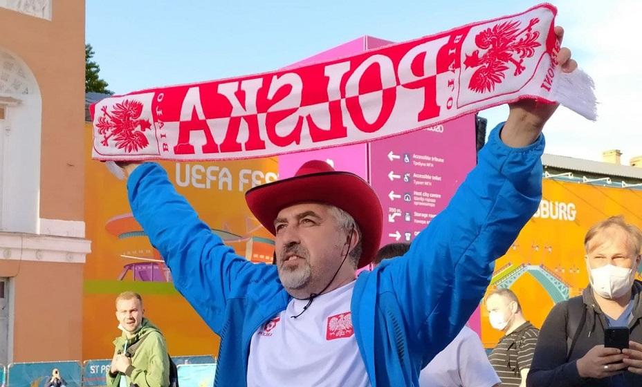 Единственный поляк на всю фан-зону, вся торсида была на стадионе. Фото: Дмитрий Рождественский
