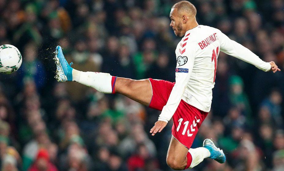 Нападающий Мартин Брейтуэйт за сборную Дании забил больше, чем за «Барселону». Фото: Global Look Press