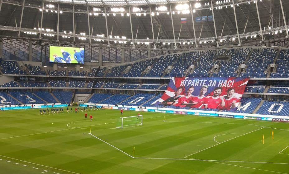 Сборная России провела занятие, которое было открыто для болельщиков. Фото: «КП Спорт»