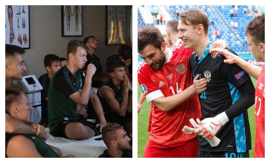 «Краснодар» вспомнил, как Матвей Сафонов поддерживал сборную на ЧМ-2018. Фото: Twitter FC Krasnodar