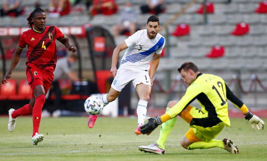 Симон Миньоле в матче с греками заменил в воротах сборной Бельгии Тибо Куртуа. Фото: Reuters