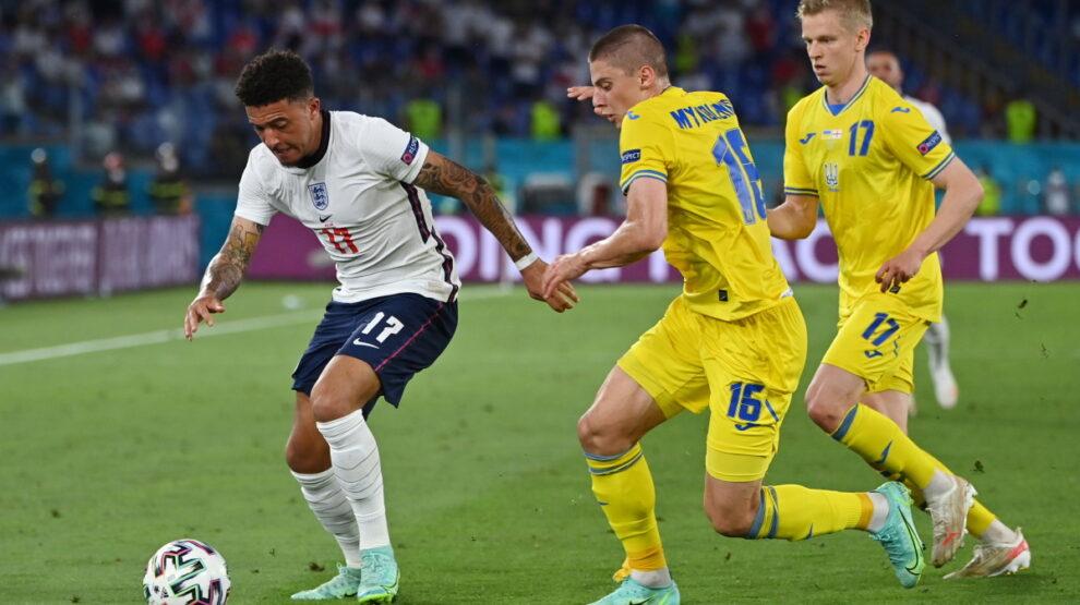 Санчо на игре Англия - Украина