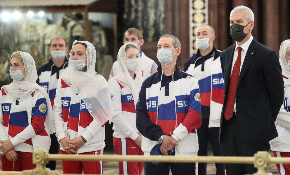 Министр спорта РФ Олег Матыцин пожелал удачи российским атлетам на предстоящей Олимпиаде. Фото: ТАСС