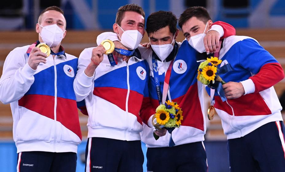 Мужская сборная России по спортивной гимнастике - олимпийские чемпионы Игр-2020 в Токио. Фото: Reuters