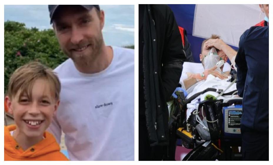 Эриксен восстанавливается после остановки сердца на море. Фото: Instagram